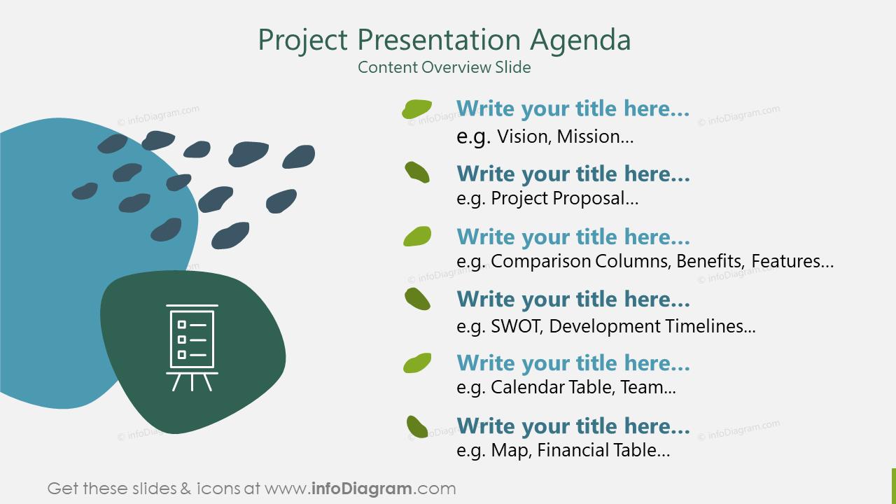 Project Presentation Agenda Content Overview Slide