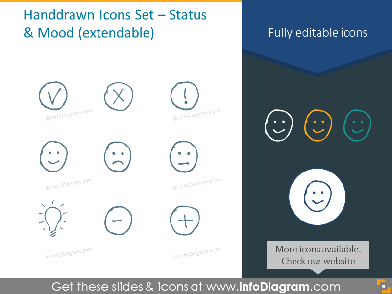 Status and mood icons set