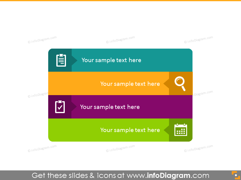 4 points infographics powerpoint template graphics
