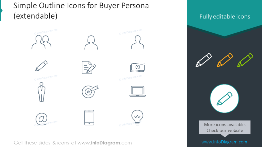 Buyer persona outline icons