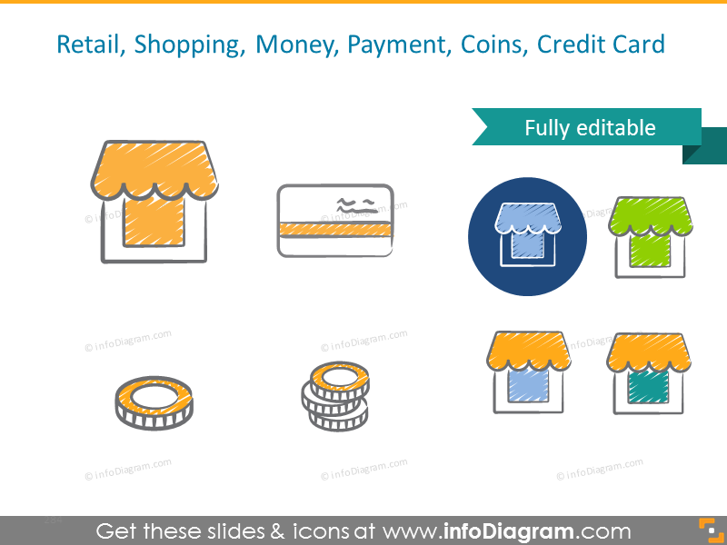 Example of Retail, Shopping, Money, Payment, Coins, Credit Card