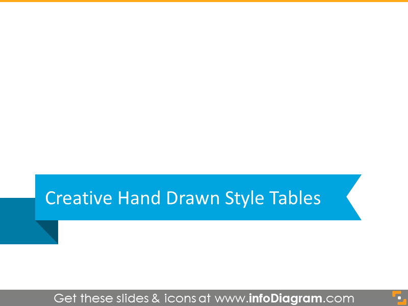Handdrawn style tables section slide