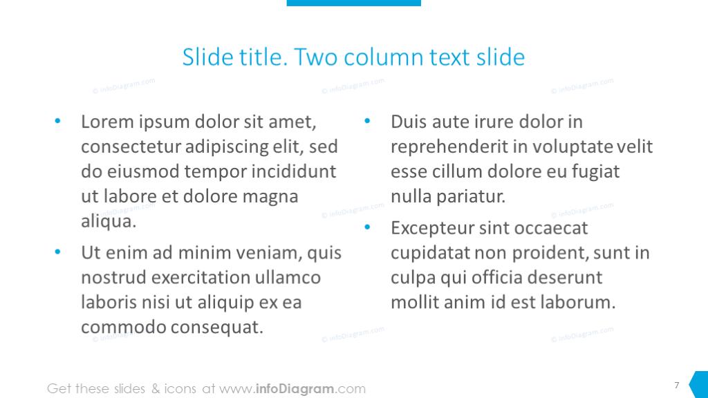 Two column text slide