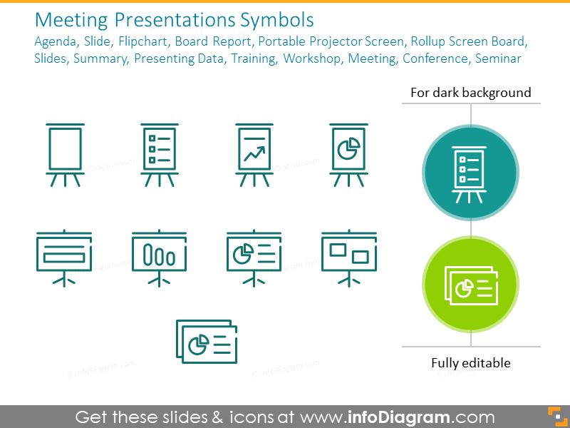 Meeting Presentations Symbols