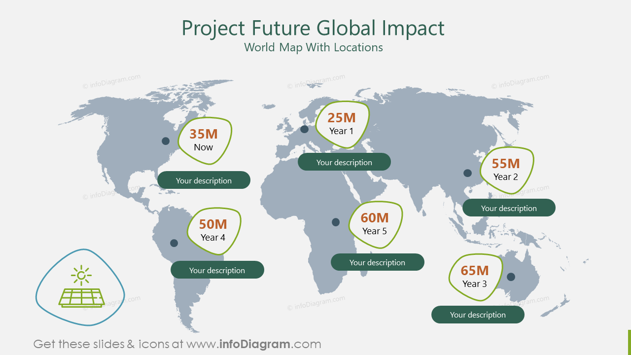 Project Future Global Impact World Map With Locations