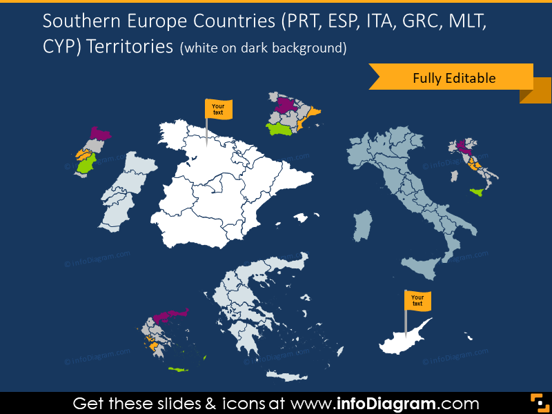 Southern Europe countries territories