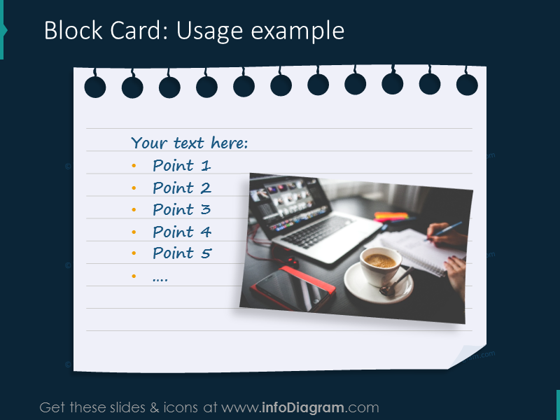 block card example notes picture ppt