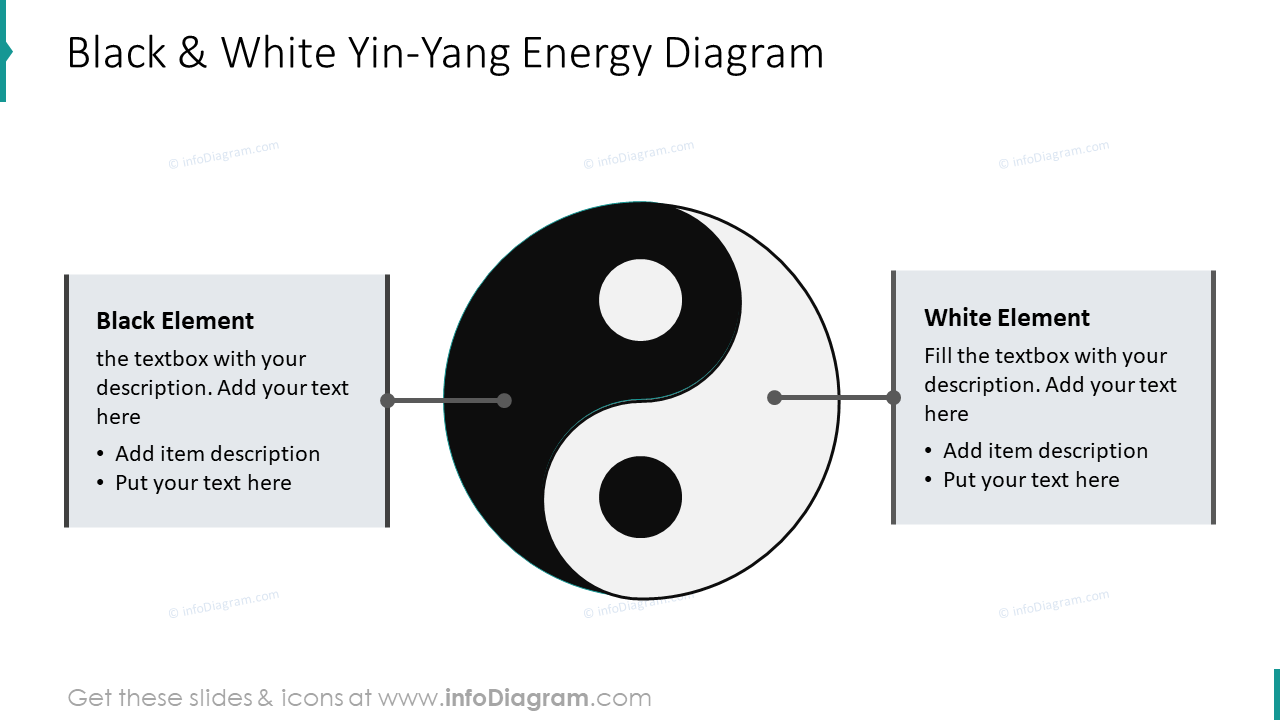 Black and white Yin-Yang energy diagram