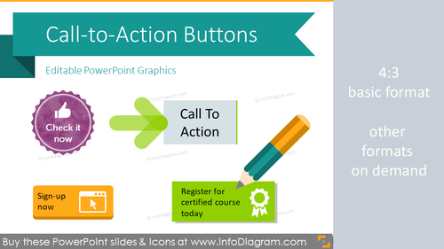 Call to Action Buttons (PPT graphics)