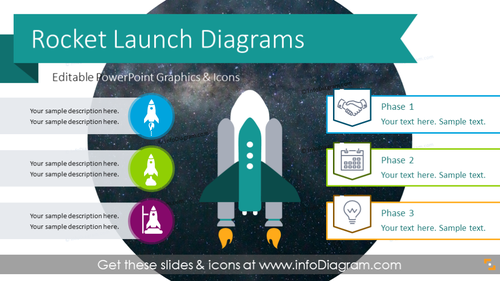 Rocket Launch Diagram (PPT Template)