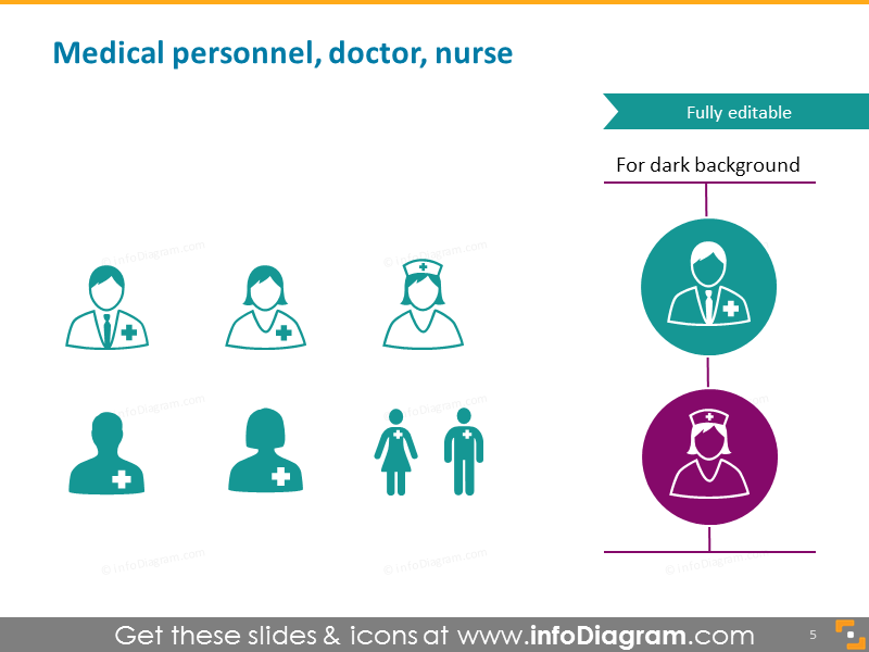 Medical personnel doctor nurse intern