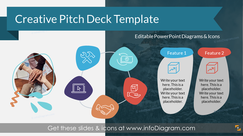 Creative Investor Pitch Deck, Organic Blob Shapes (PPT Template)