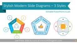Stylish Modern Diagrams (PPT infographics template)