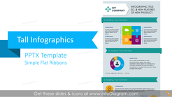 Tall Infographics Presentation Template (flat PPT graphics)