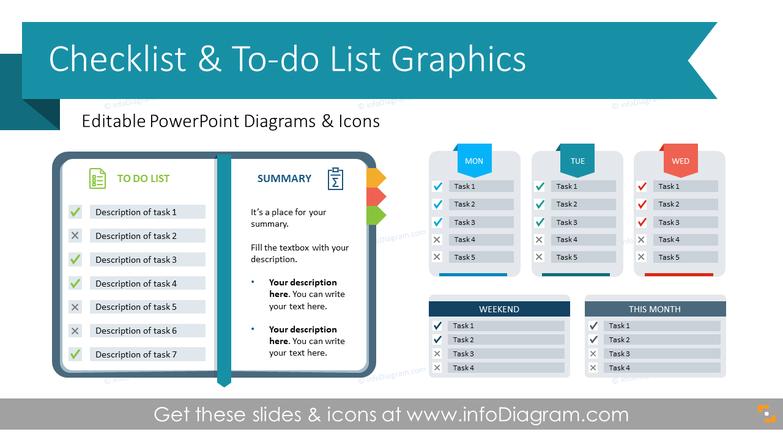 To Do Presentation Checklist Graphics (PPT Template)