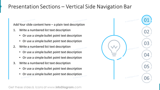 Presentation Sections – Vertical Side Navigation Bar