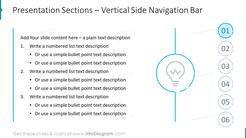 Presentation Sections – Vertical Side Navigation Bar