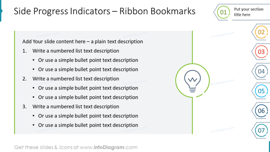 Side Progress Indicators – Ribbon Bookmarks