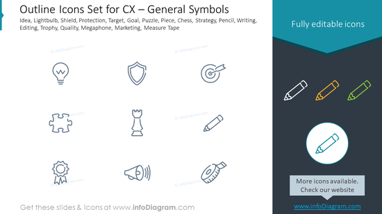 Outline Icons Set for CX – General Symbols
