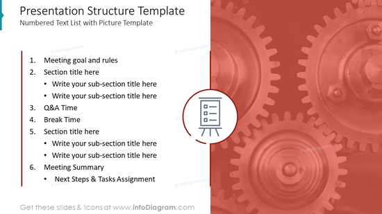 Presentation Structure Template: Numbered Text List with Picture Template
