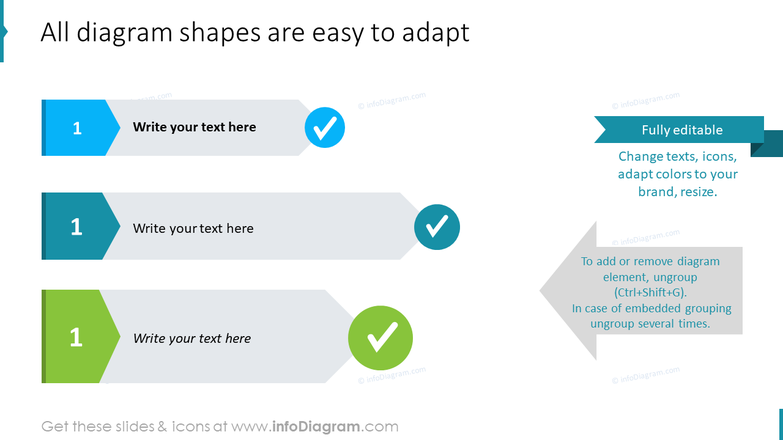 All diagram shapes are easy to adapt