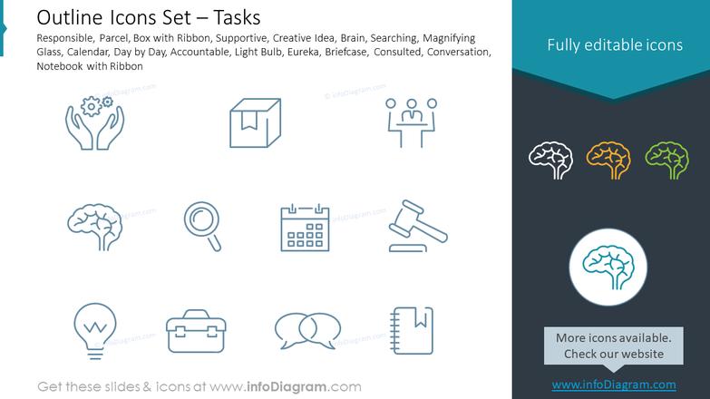 Outline Icons Set – Tasks