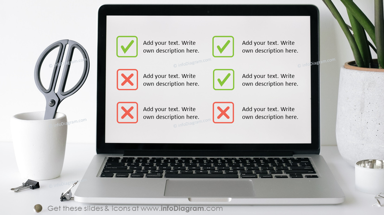 Computer Screen Photo with Editable Checklist