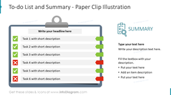 To-do List and Summary - Paper Clip Illustration