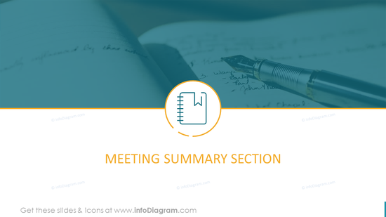 Meeting Summary Section Template