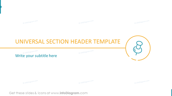 UNIVERSAL SIMPLE SECTION HEADER TEMPLATE