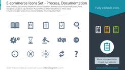 E-commerce Icons Set - Process, Documentation