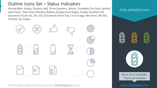 Outline Icons Set – Status Indicators