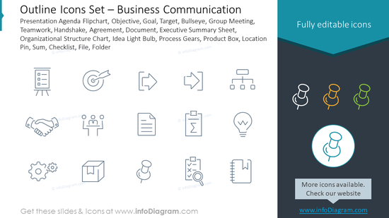 Outline Icons Set – Business Communication