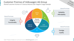 Customer Promise of Volkswagen AG Group Shared Customer Promise of 3 Various Brands Euler Diagram Usage Example