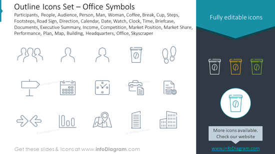 Outline Icons Set – Office Symbols