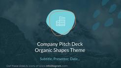 Company Pitch Deck Organic Shapes Theme
