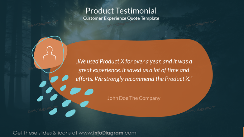 Product Testimonial Customer Experience Quote Template