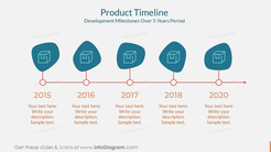 Product TimelineDevelopment Milestones Over 5 Years Period