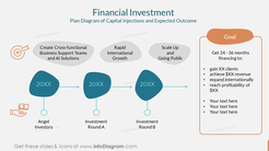 Financial Investment Plan Diagram of Capital Injections and Expected Outcome