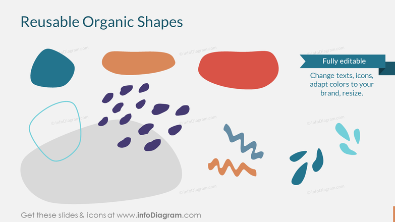 Reusable Organic Blob Shapes