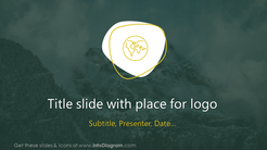 Title slide with place for logo