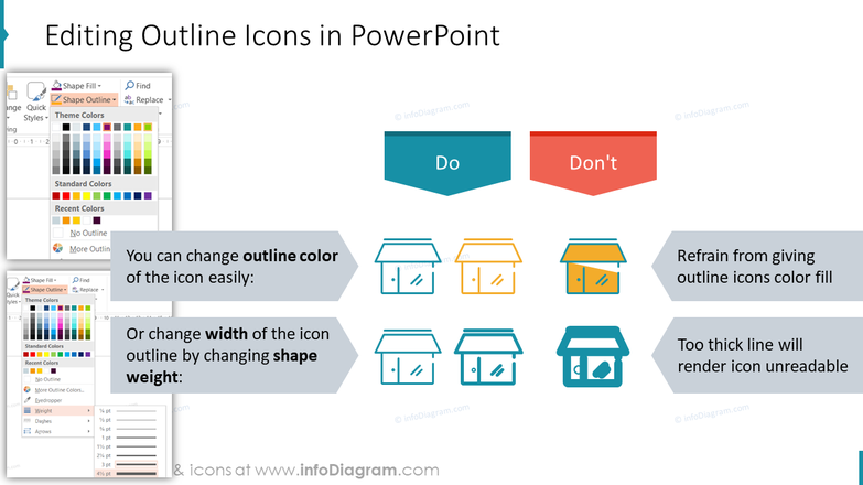 omnichannel-multichannel-Editing Outline Icons in PowerPoint