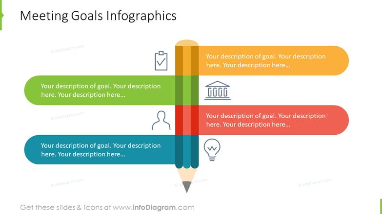 Formal meeting agenda template - meeting goals infographics
