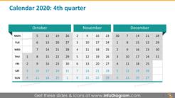 Quarterly calendar 2020 example