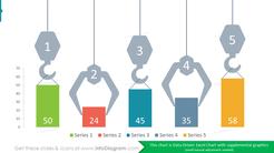 Bar Chart Crane Graphics Comparison Diagram: 5 categories