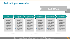 Second half year calendar 2020 graphics