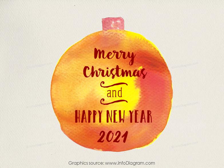 Seasonal powerpoint ornaments ribbon hand drawn slide