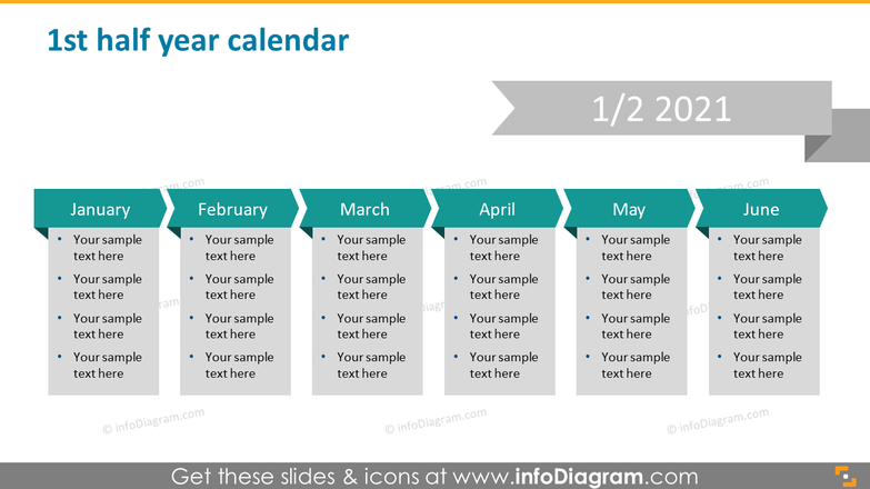 First half year calendar 2020 slide