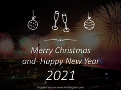 hand written script merry christmas aquarelle blue ppt picture