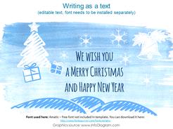 Creative Happy Holiday Watercolor, Santa, New Year 2019, Christmas (PPT icons)